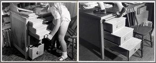 Desk Drawer Stairs, 1975