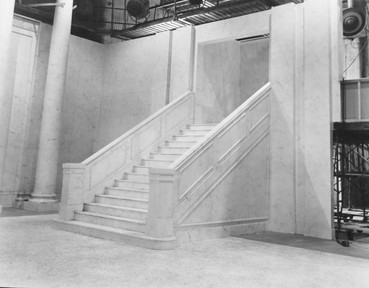 """Marble Staircase; serialized Movie-for-TV, """"Rich Man, Poor Man"""" – Stage #37, May 16, 1977"""