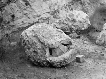 Composite boulder with lifting port — Backlot, April 1, 1977