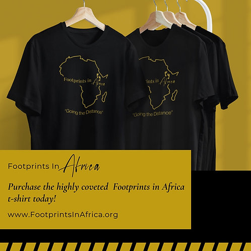 The Highly Coveted Footprints in Africa T-shirt (XS, S, M, L, XL)