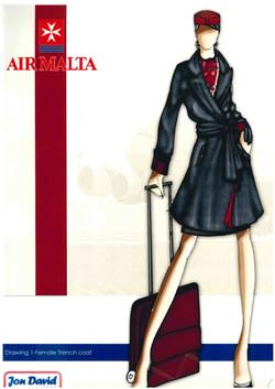 Air Malta Uniform Design