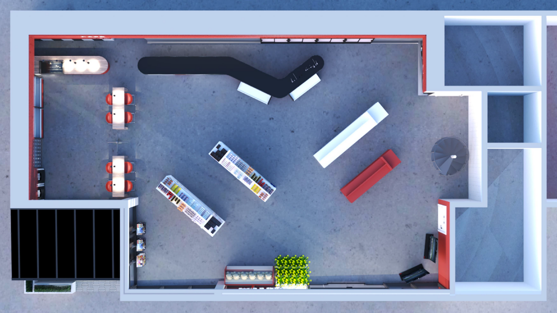 Convenience Petrol Station
