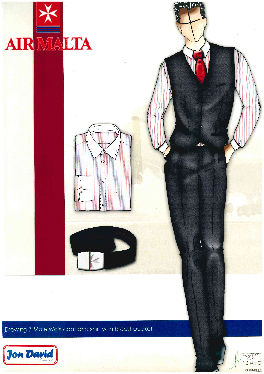 Air Malta Uniform Design