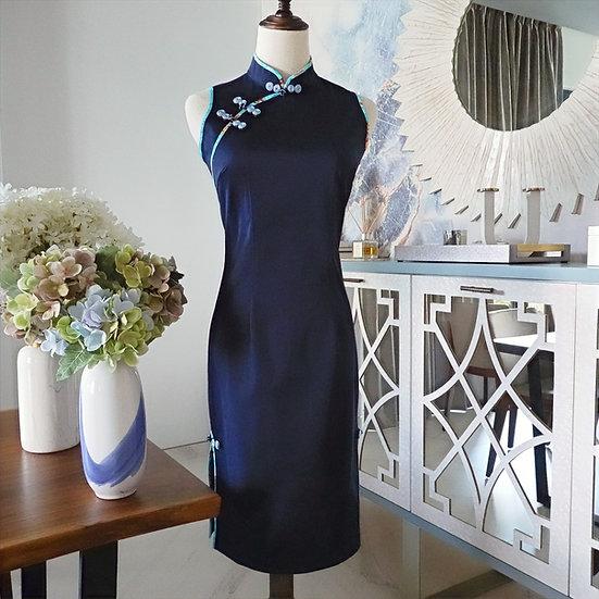 Harmonious Blue Mizu Cheongsam Dress