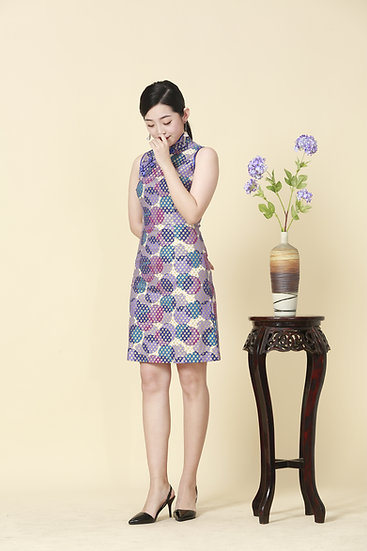Hana Sakura Kimono Cheongsam Dress