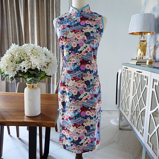 Bountiful Blossoms Hanami Cheongsam Dress