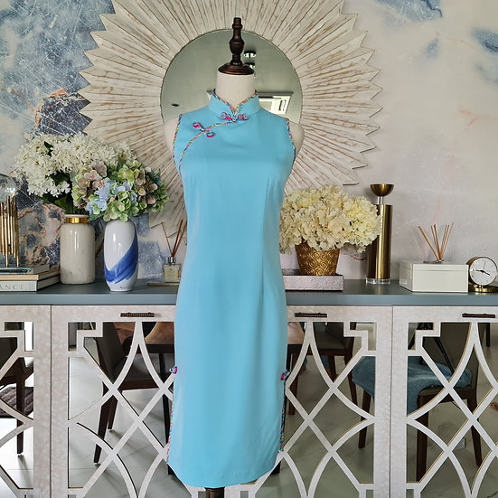 Mizu Sky Blue Cheongsam Dress