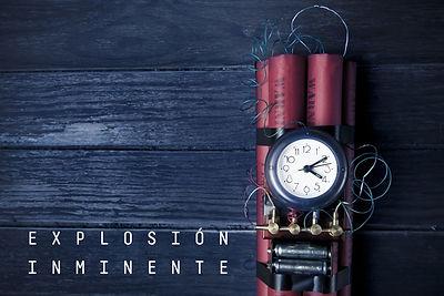 Cartel del escape room Explosión inmimente de Enigma Exprés