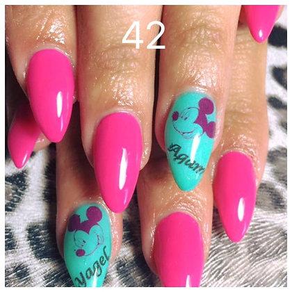 42 pink ribbon לק ג׳ל