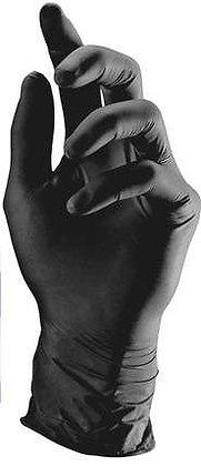 כפפות שחורות ללא אבקה -100 יחידות במארז