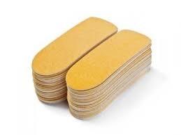 מדבקות חד פעמי לפדיקור צהוב -50 יחידות בחבילה