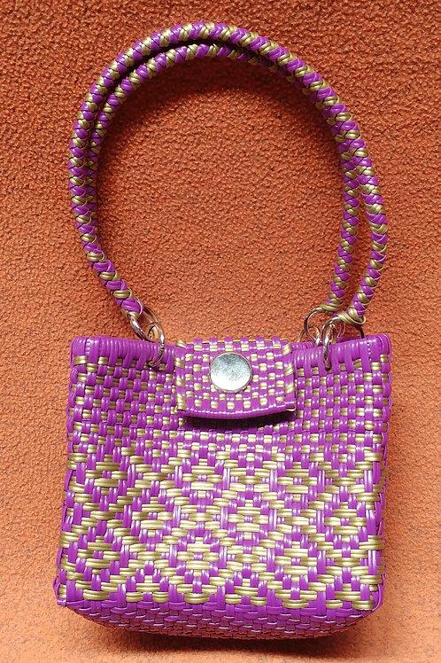 Woven plastic artisan bag - small