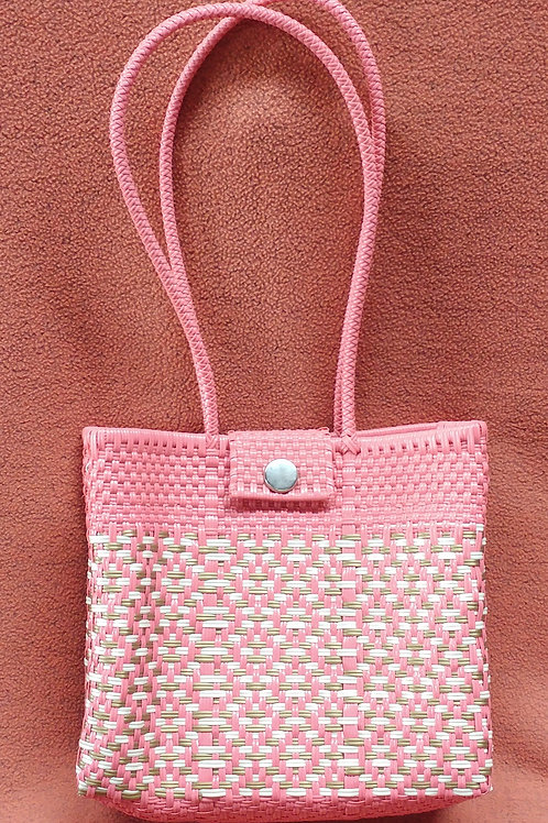 Woven plastic artisan bag - medium-large