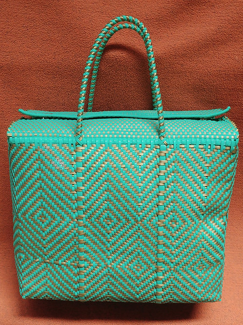 Woven plastic artisan bag - extra large