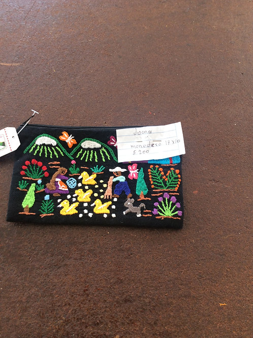 Hand Embroidered Change Purse