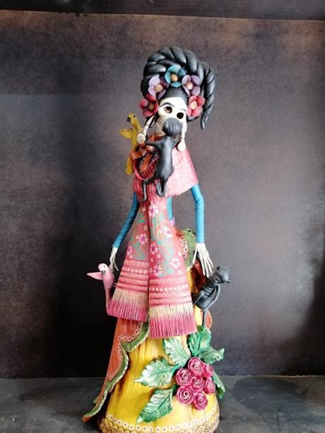 Frida con chango