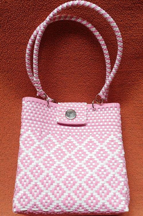 Woven plastic artisan bag - medium