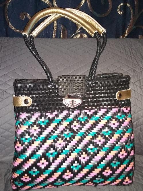 Woven plastic artisan bag