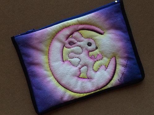 Rabbit moon cosmetic / pencil bag