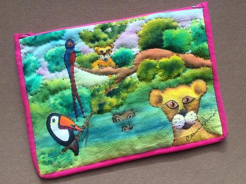Jungle cosmetic / pencil case