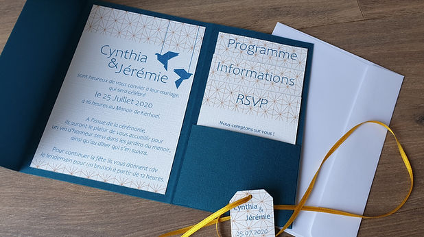 Invitation origami belu canard