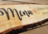 Création menu sur bois