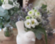 bouquet naturel chardon