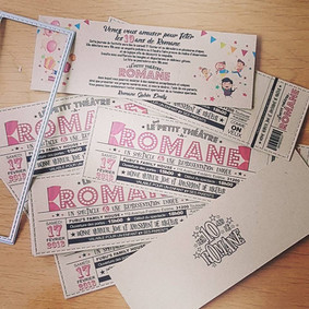 Invitation Romane 10ans