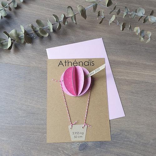 Hestia montgolfière rose