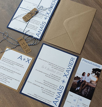 invitation mariage thème marin