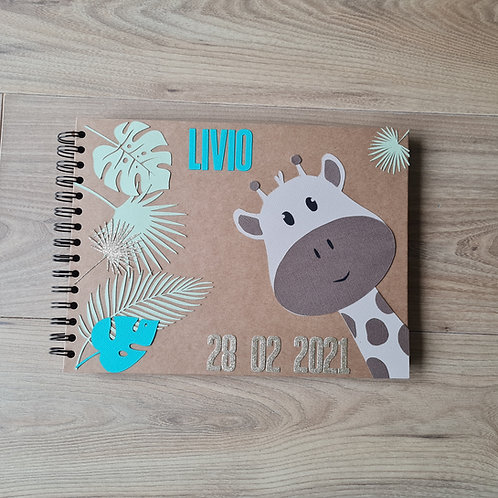 "Album naissance "" Circé "", modèle girafe"