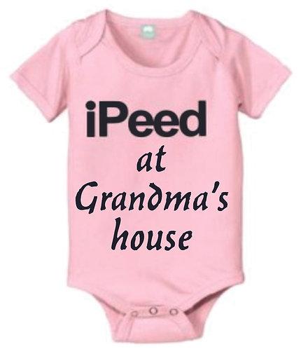I Peed at Grandma's House - Onesie