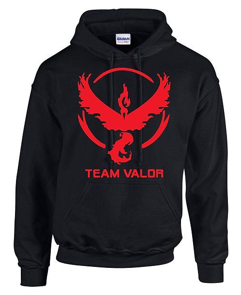 Black Hoodie with Team valor