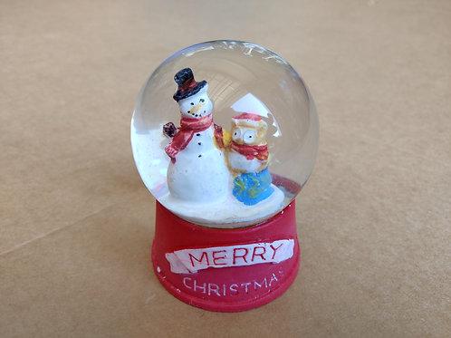 Snowman & Owl Globe