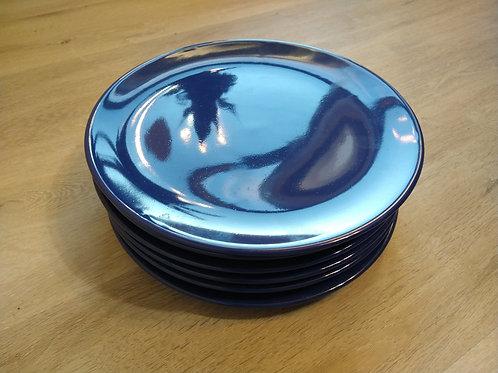 "Blue Dinner Plates 10 1/2"""