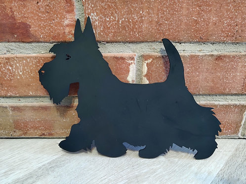 Metal Silhouette Plate Scottish Terrier