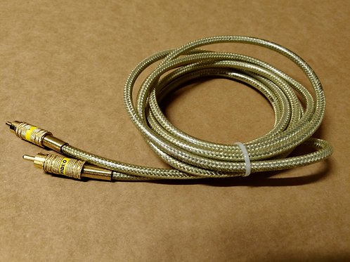 Brass RCA Video Cable