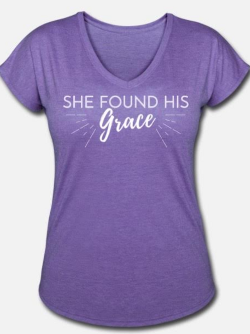 She Found His Grace Tee (Purple)
