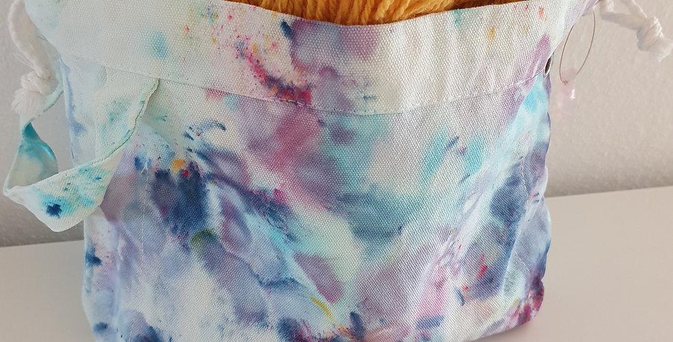Handgefärbte Projekttasche