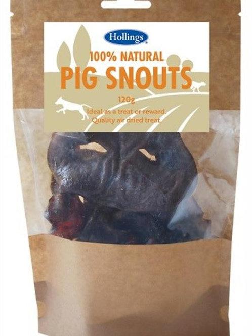 Hollings Pig Snouts 120g - Dog Treats