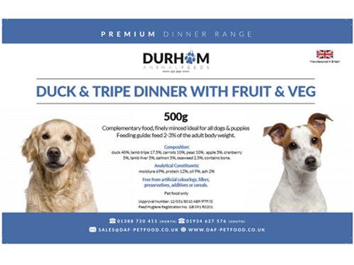 DAF  Duck & Tripe Dinner with Fruit  & Veg 500 g