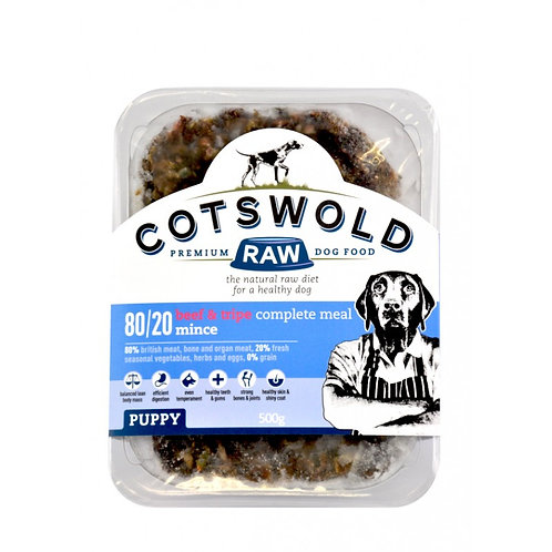 Cotswold Pupy -Beef & Tripe Mince -1 kg