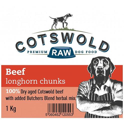 Cotswold Beef Longhorn Chunks 1 kg