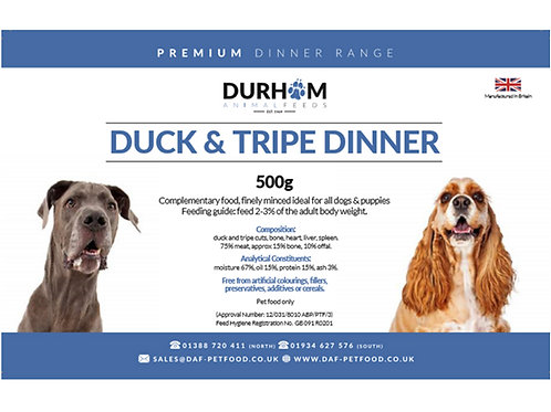 DAF Duck & Tripe Dinner 454g