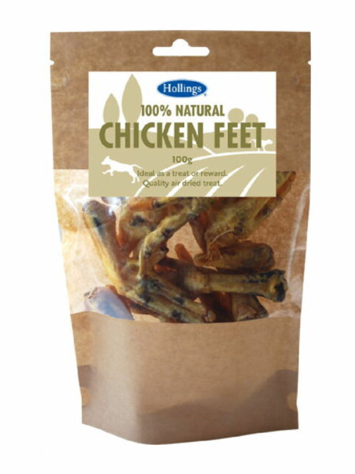 Hollings Chickens Feet Dog Treats 120g - Dog Treats