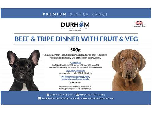 DAF Beef Tripe Dinner - With Fruit & Veg