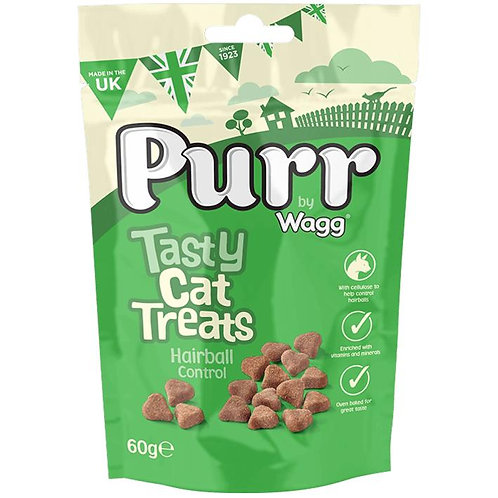 Wagg Purr Cat Treats Hairball Control 60g