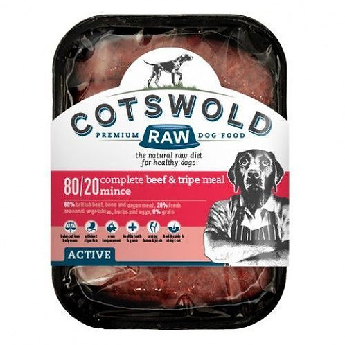 Cotswold Beef and Tripe Mince 80/20 Active-1 Kg
