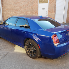 Chrysler 300 tint job - after