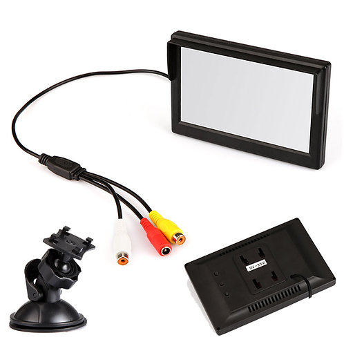 "5"" Colour Monitor + LED Night Vision Reverse Camera"